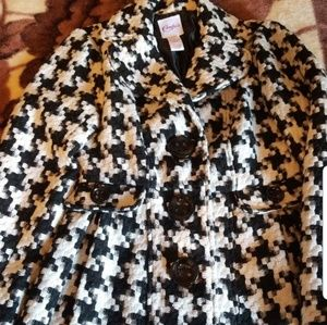 Womens pleated button coat